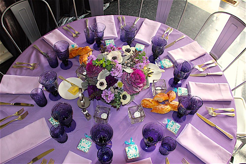 Shades of Lavender for a February Bat Mitzvah Celebration