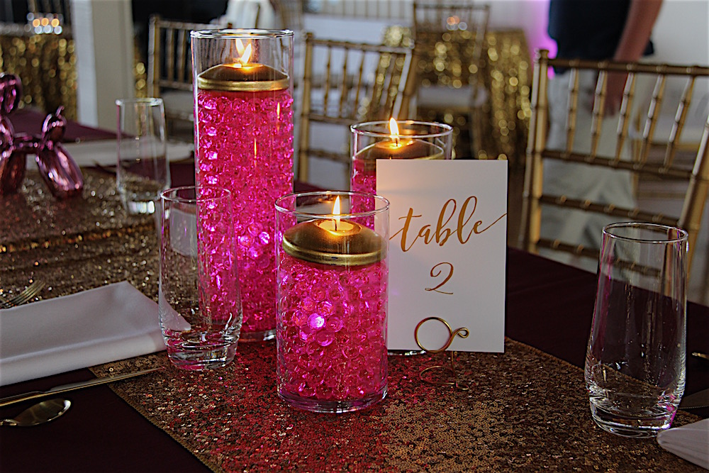 Gold Sparkle and Pop Art Design = Bat Mitzvah Party!  Quadrus Conference Center, Menlo Park