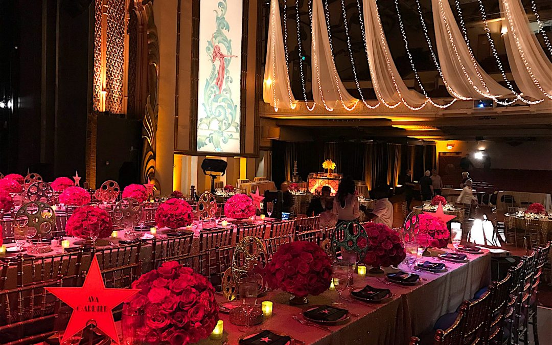 Old Hollywood Glamour Shines at the Redwood City Fox Theatre for Epic Bat Mitzvah Celebration